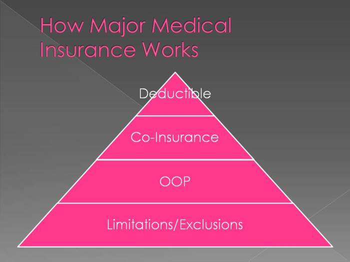 Chart to explain what to look for in health insurance.