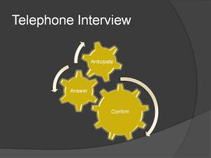 Telephone interview for insurance.