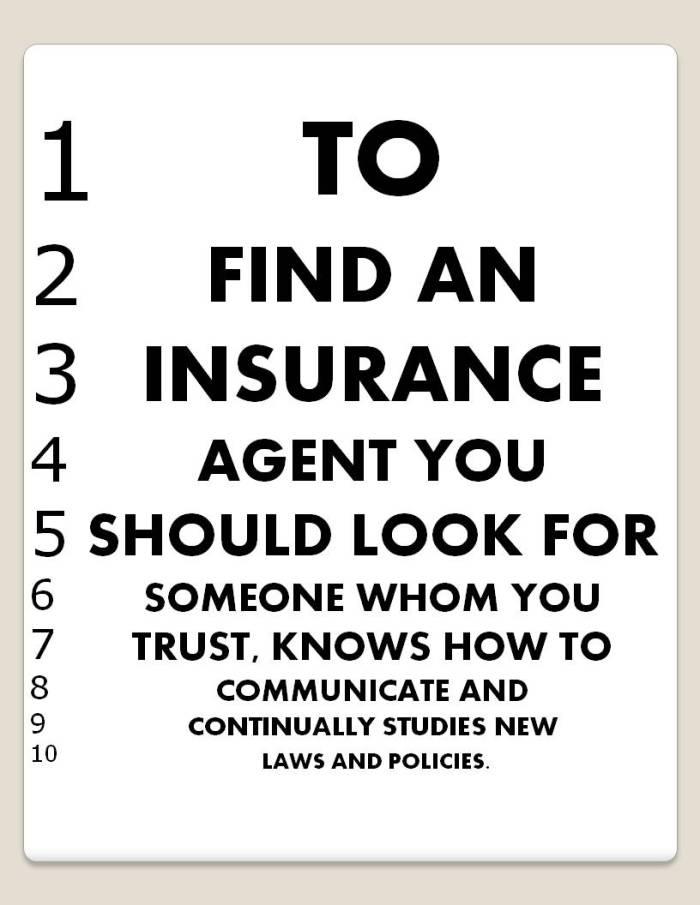 Insurance Agent Eye Chart